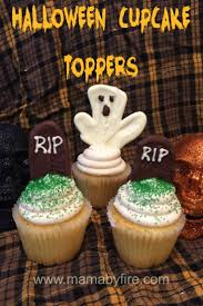 halloween cupcake ideas mama by fire halloween cupcake toppers mama by fire