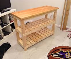 Diy Kitchen Island Pallet Diy Butcher Block Kitchen Island 7 Steps With Pictures