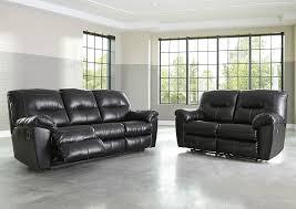 alex furniture gallery kilzer durablend black reclining sofa and