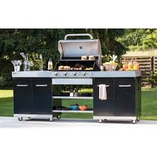 meuble cuisine exterieur inox summer cuisine d extérieur 4 brûleurs achat vente