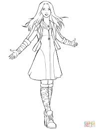 avengers scarlet witch coloring page free printable coloring pages