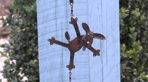 handmade metal cat u0026 dog rain chain plow u0026 hearth youtube