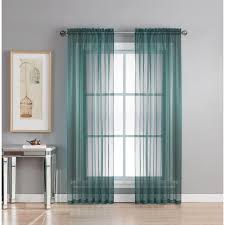 Sheer Elegance Curtains Window Elements Sheer Sheer Elegance 84 In L Rod Pocket Curtain
