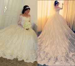 2017 off shoulder long sleeves ball gown wedding dresses vestidos