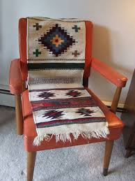 American Furniture Rugs Authentic Navajo Rug Native American Indian Hand Woven Wool Chair
