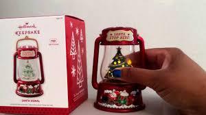 hallmark keepsake 2013 ornament santa signal lantern