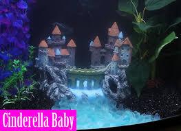 ancient aquarium castle ornament fish tank decoration resin