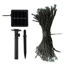 Solar Powered String Lights Patio by Ora 100 Led Solar Powered Outdoor String Lights Bright White 55