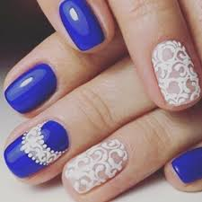 experience the glamorous style of royal blue nail designs be modish