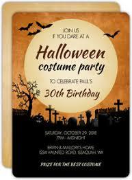 Halloween Costume Party Invitations Halloween Birthday Party Invitations