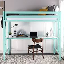 loft bed desk amazon com