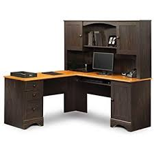 Office Furniture With Hutch by Amazon Com Sauder Office Furniture Harbor View L Desk With Hutch