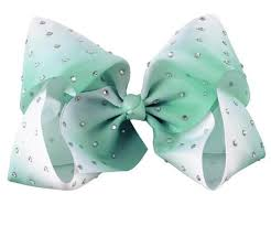 ombre ribbon large ribbon bow jojo inspired ombre ribbon with rhinestone gems