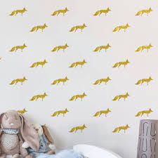 compare prices on diy wall murals online shopping buy low price funlife fox design peel and stick diy wall mural sticker for children room decoration lv093