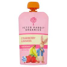 rabbit organics strawberry and banana 100 fruit snack