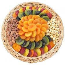 fruit and nut baskets assorted dried fruit nut tray 48 oz shiva sympathy and
