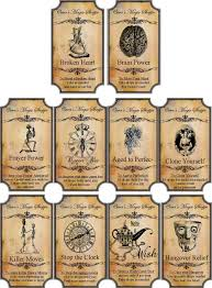 halloween magic steampunk label glossy stickers set of 10