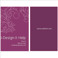 Purple Business Cards Business Card 2 U2033x3 5 U2033 14pt U0026 16pt U2013 Purple Leaves Design U2013 Custom