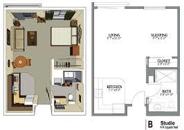 exciting efficiency apartment floor plan ideas best image engine
