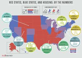 Election Map Results by Red Vs Blue States What 8 Housing Differences Can Tell Us About