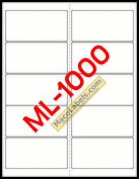 maco ml 1000 ml 1000 ml1000 5163 laser inkjet label white