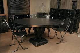 Chairs With Metal Legs Industrial Look Dining Table And Chairs With Casters Style Set