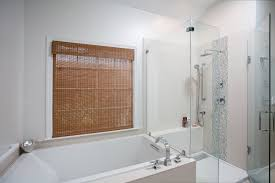bathroom shower and tub combination ideas 15030 bathroom ideas contemporary white bathroom with tub and glass enclosed shower combo image 7 of 19