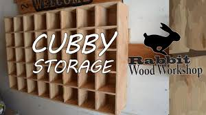 How To Make Wooden Shelving Units by Cubby Storage Easy Build Youtube