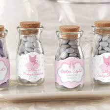 ballerina baby shower decorations personalized ballerina baby shower milk jar favor