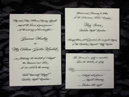 Invitation Reply Card Fancy Black Script On Cream Wedding Invitations Emdotzee Designs