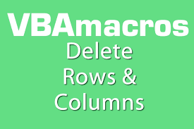 excel vba delete rows and columns show only few rows columns in