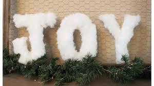 fur christmas diy faux fur letters christmas decor