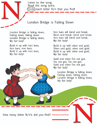 learn alphabet letter n with abc nursery rhymes then print out