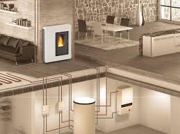 caldaia a pellet per riscaldamento a pavimento termostufa a pellet impianto di riscaldamento su due piani e