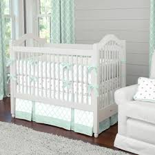 Green And White Crib Bedding Country Interior Design With Mint Green White Crib Bedding Sets