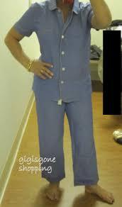 j crew vintage sleeve pajama set in chambray gigi s