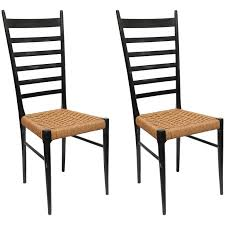 gio ponti pair of gio ponti ladder back chairs italy 1950s at 1stdibs