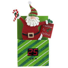 santa countdown ornament countdown ornament