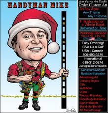 christmas cards custom made caricatures cartoons and comics