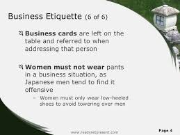 offensive business cards japan powerpoint content