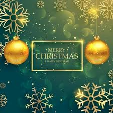 merry christmas background with stars vector free download