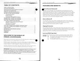 mirage speakers 1295is user manual pdf download