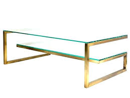 Brass Glass Coffee Table Solid Brass Coffee Table Brass And Glass Coffee Tables Image