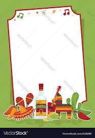 mexican party sign royalty free vector image vectorstock
