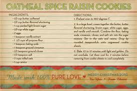 oatmeal spice raisin cookies recipe u0026 a frugal christmas gift