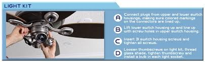 how to install light kit to existing ceiling fan how to install a ceiling fan a step by step installation guide from