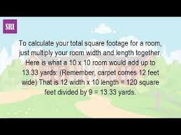 total square footage calculator how do you figure out square yards of carpet youtube