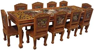 Teak Wood Dining Tables Ramayana Teak Wood Dining Table 10 T Buy Dining Table Product