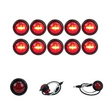 red led marker lights 10 new long haul 3 4 red led clearance marker bullet light truck