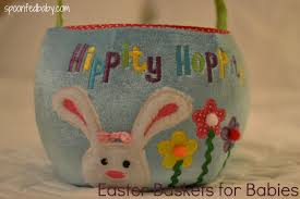 Homemade Easter Baskets by Easter Baskets For The Little Bunnies Spoon Fed Baby